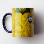Caneca Brasil - Camisa Bi-Campeão Mundial 1962 - Porcelana 325ml