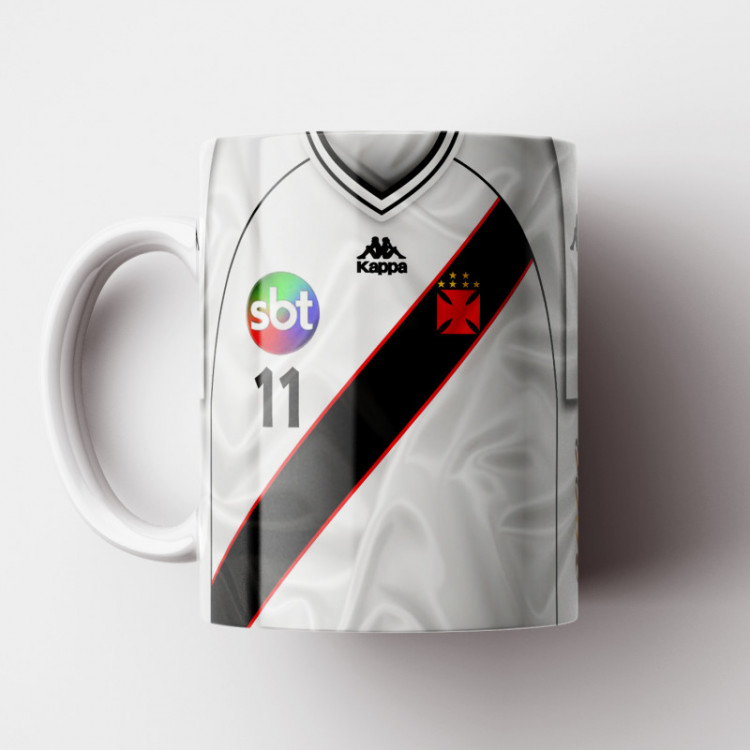 Caneca Vasco da Gama - Camisa Branca - Campeão Brasileiro 2000 - Porcelana 325ml