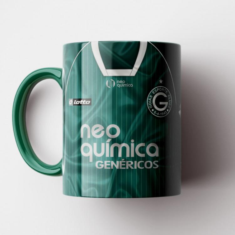 Caneca Goiás EC - Camisa Verde - Vice-Campeão da Sul-Americana 2010 - Porcelana 325ml