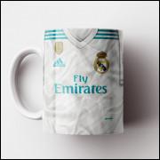 Caneca Real Madrid - Camisa 2017/18 - Porcelana 325ml
