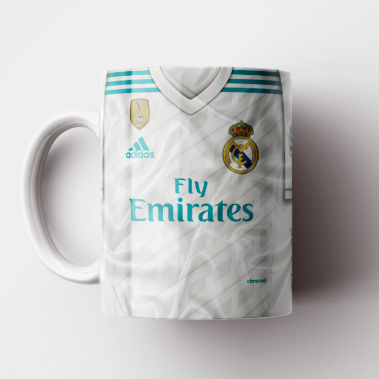 Caneca Real Madrid - Camisa 2017/18 - Porcelana 325ml