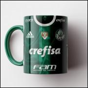 Caneca Palmeiras - Camisa Verde - Enea Campeão Brasileiro 2016 - Porcelana 325ml