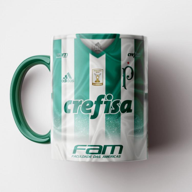 Caneca Palmeiras - Camisa Branca 2017 - Porcelana 325ml