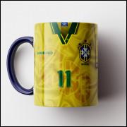 Caneca Brasil - Camisa Tetra-Campeão Mundial 1994 - Porcelana 325ml