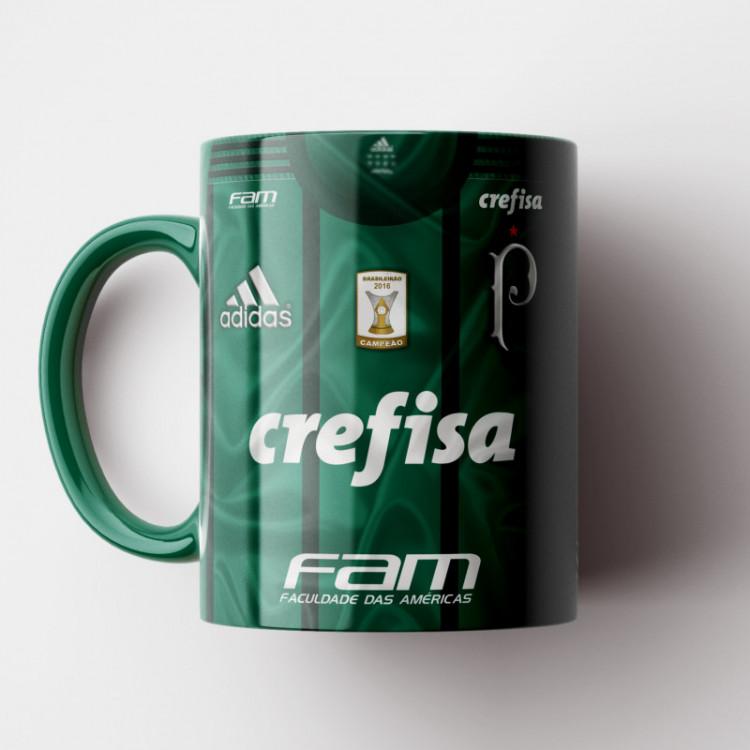 Caneca Palmeiras - Camisa Verde 2017 - Porcelana 325ml