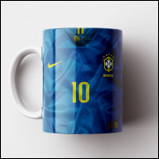 Caneca Brasil - Camisa Azul 2018 - Porcelana 325ml