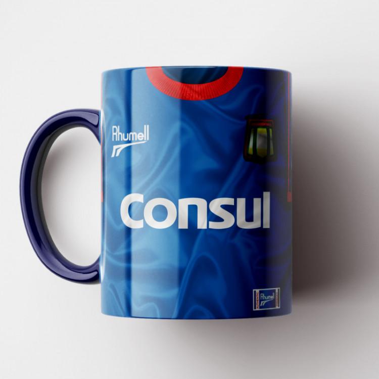 Caneca São Caetano - Camisa Azul - Vice-Campeão Brasileiro 2000 - Porcelana 325ml