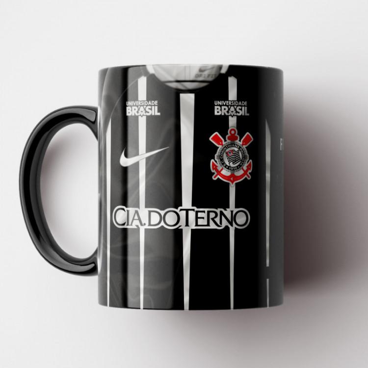 Caneca Corinthians - Camisa Listrada - Hepta-Campeão Brasileiro 2017 - Porcelana 325ml