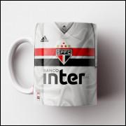 Caneca São Paulo FC - Camisa Branca 2019 - Porcelana 325ml