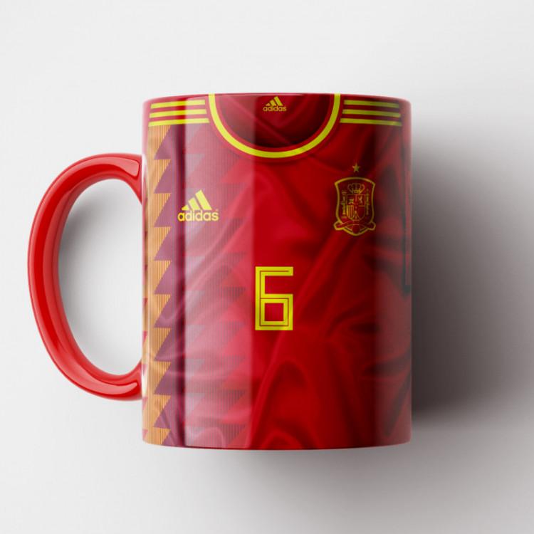 Caneca Espanha - Camisa Copa do Mundo 2018 - Porcelana 325ml