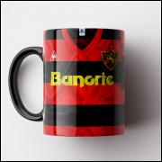 Caneca Sport - Camisa Rubro-Negra - Campeão Brasileiro 1987 - Porcelana 325ml