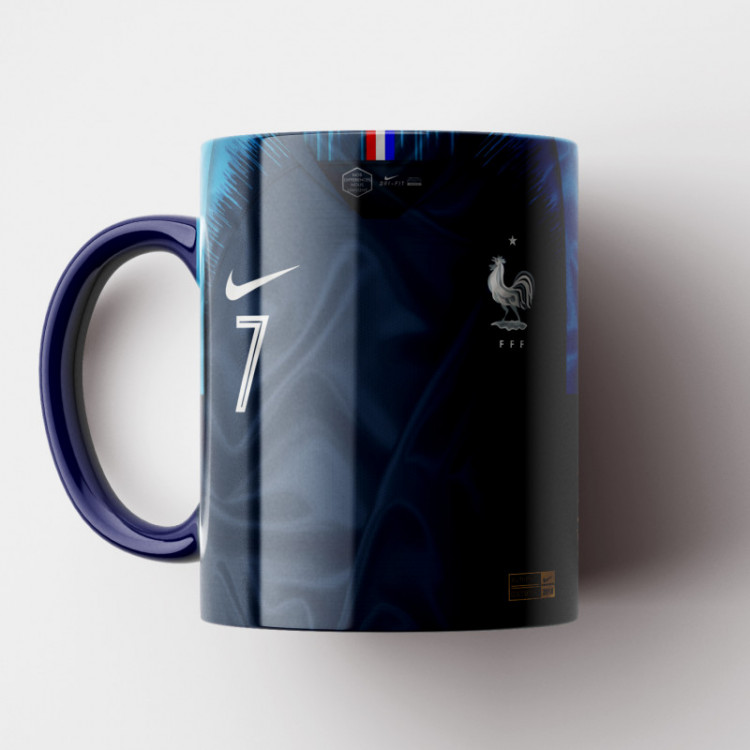 Caneca França - Camisa Copa do Mundo 2018 - Porcelana 325ml