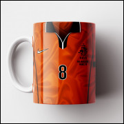 Caneca Holanda - Camisa Copa do Mundo 1998 - Porcelana 325ml