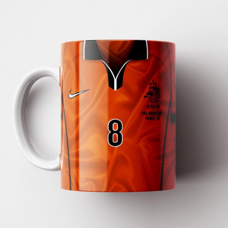 Caneca Holanda - Camisa Copa do Mundo 1998 - Porcelana 325ml