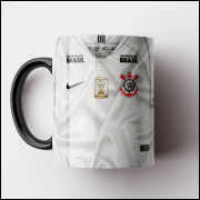Caneca Corinthians - Camisa Branca 2018 - Porcelana 325ml