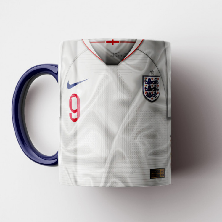 Caneca Inglaterra - Camisa Copa do Mundo 2018 - Porcelana 325ml