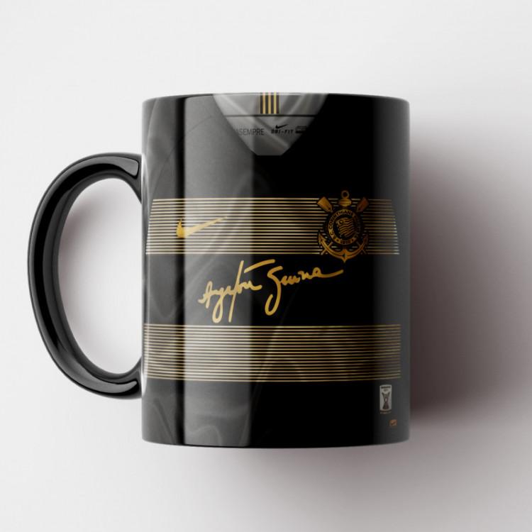 Caneca Corinthians - Camisa Ayrton Senna 2018 - Porcelana 325ml