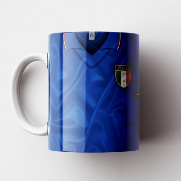 Caneca Itália - Camisa Copa do Mundo 1982 - Porcelana 325ml