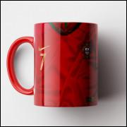 Caneca Portugal - Camisa Copa do Mundo 2018 - Porcelana 325ml