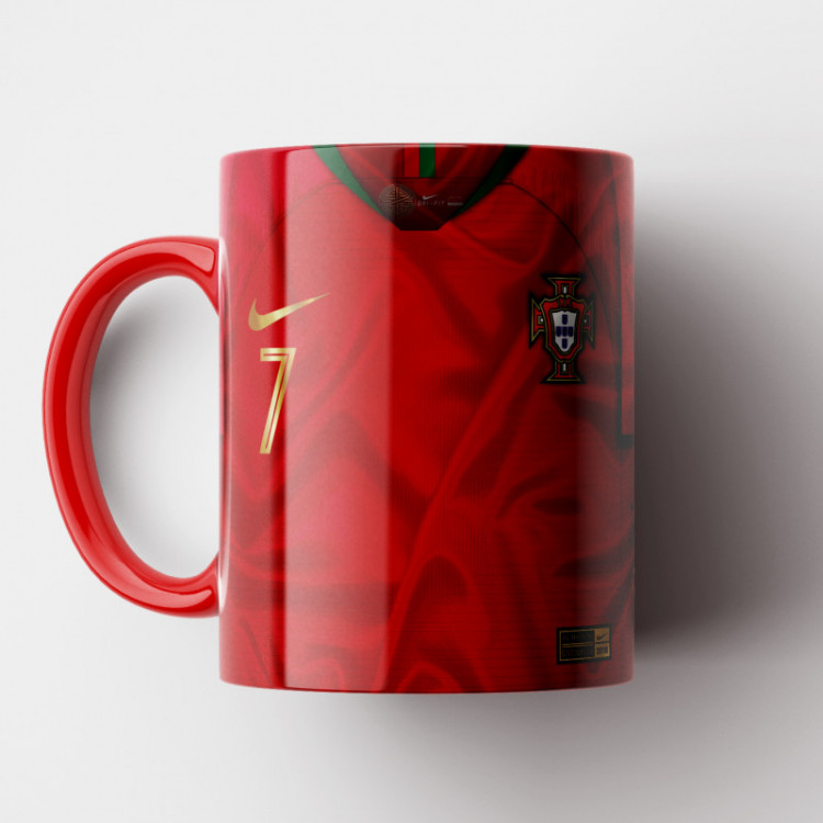 Caneca Portugal - Camisa Copa do Mundo 2018 - Porcelana 325ml