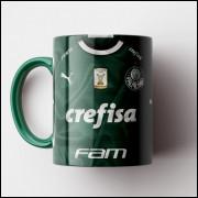 Caneca Palmeiras - Camisa Verde 2019 - Porcelana 325ml