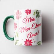 Caneca Mãe Eterno Amor - Verde - Porcelana 325ml