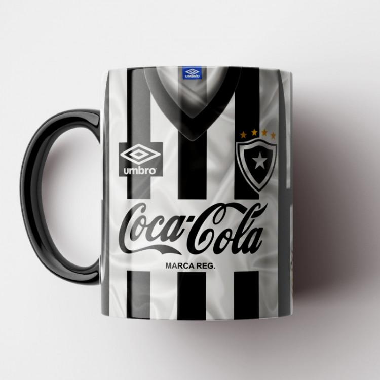 Caneca Botafogo - Camisa Listrada - Campeão Carioca 1989 (Fim do Jejum) - Porcelana 325ml