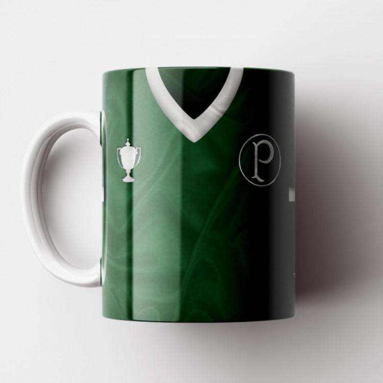 Caneca Palmeiras - Camisa Verde - Campeão Mundial 1951 - Porcelana 325ml