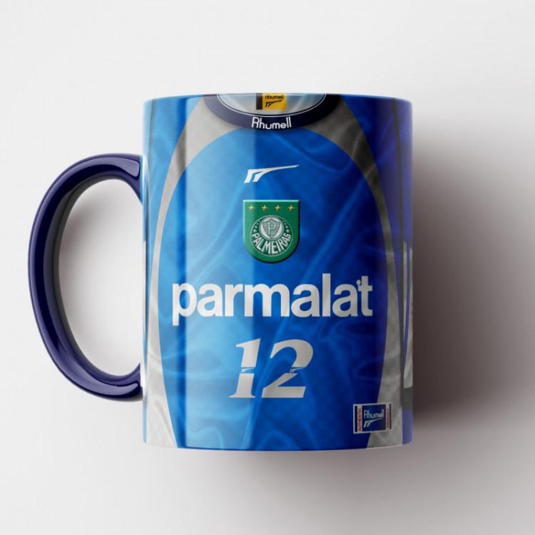 Caneca Palmeiras - Camisa Goleiro - Campeão da Libertadores 1999 - Marcos - Porcelana 325ml