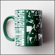 Caneca Palmeiras - Segunda Academia 1972 (Coleção Grandes Momentos do Futebol) - Porcelana 325ml