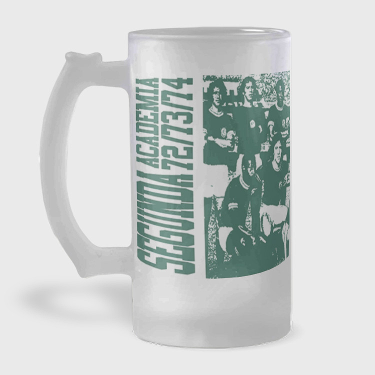 Caneca de Chopp do Palmeiras - Segunda Academia 1972 - Vidro Jateado 475ml