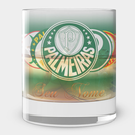 Copo de Whisky do Palmeiras - Boteco Palmeirense - Vidro 300ml