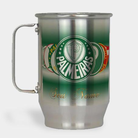Caneca de Chopp do Palmeiras - Boteco Palmeirense - Alumínio Escovado 600ml