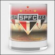 Copo de Whisky do São Paulo - Boteco Tricolor - Vidro 300ml