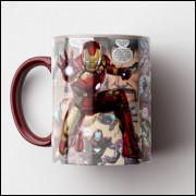 Caneca Homem de Ferro HQ - Porcelana 325 ml