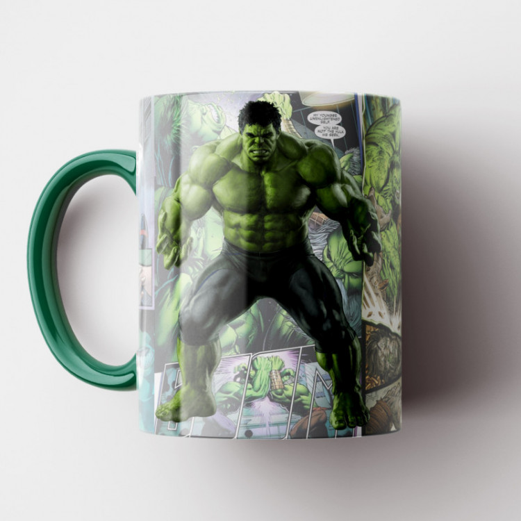 Caneca Hulk HQ - Porcelana 325 ml