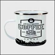 Caneca Cantinho do Café Retrô - Coffee Fair Trade - Ágata 300ml