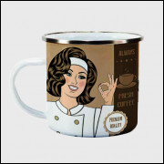 Caneca Cantinho do Café Retrô - Coffee Premium Quality - Ágata 300ml