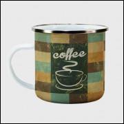 Caneca Cantinho do Café Retrô - Tile Coffee - Ágata 300ml