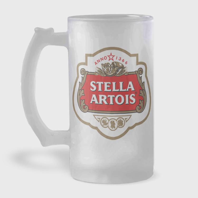 Caneca de Chopp - Stella Artois - Vidro Jateado 475ml