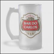 Caneca de Chopp Personalizada - Stella Artois - Vidro Jateado 475ml