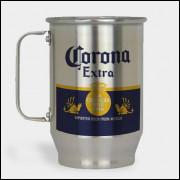 Caneca de Chopp - Corona - Alumínio Escovado 600ml