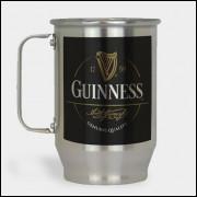 Caneca de Chopp - Guinness - Modelo 1 - Alumínio Escovado 600ml