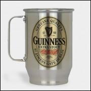 Caneca de Chopp - Guinness - Modelo 2 - Alumínio Escovado 600ml