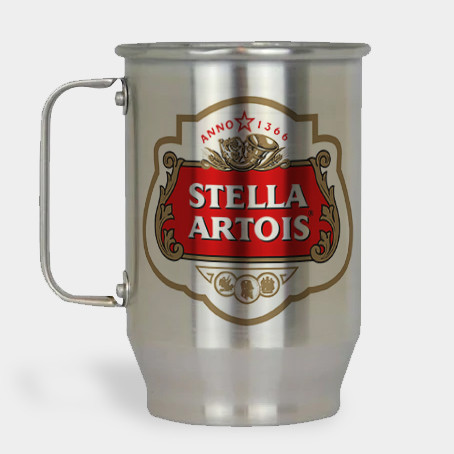 Caneca de Chopp - Stella Artois - Alumínio Escovado 600ml