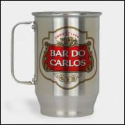 Caneca de Chopp Personalizada - Stella Artois - Alumínio Escovado 600ml