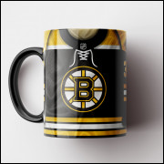 Caneca NHL Boston Bruins - Camisa 2019/20 - Porcelana 325ml