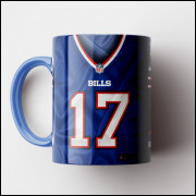Caneca NFL Buffalo Bills - Camisa 2019 - Porcelana 325ml