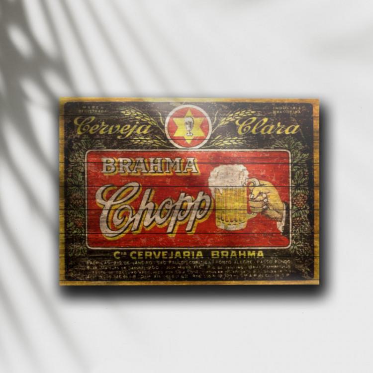 Placa Decorativa Cerveja Brahma Retrô 1 - MDF 6 mm - Tam. 28 x 20 cm