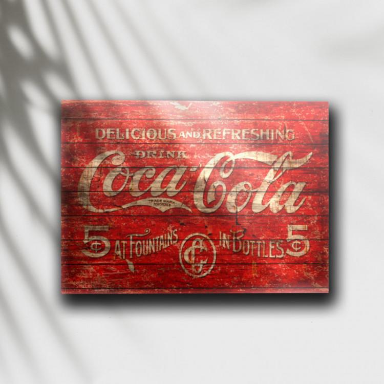 Placa Decorativa Coca-Cola Retrô - MDF 6 mm - Tam. 28 x 20 cm